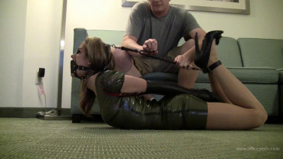 Candle Boxxx : Leather Strap Hogtie & Latex