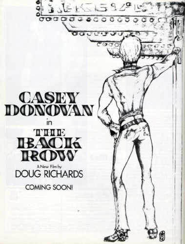 The Back Row Bareback (1973) — Casey Donovan, George Payne, David Knox