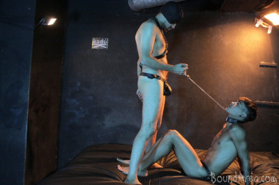 BoundArea — Humiliating Puppy Play Ends with Creamy Gay Anal