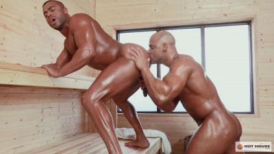 Hot guys in the sauna