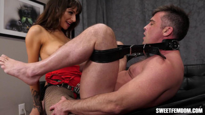 April Fucks Lance in Chastity Part 3