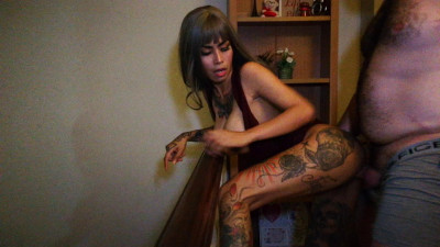 Inked monster - Asian Bombshell Bent Over and Railed