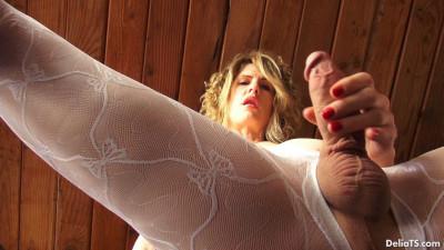 Delia Ts  White Bodystocking