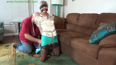 HunterSlair - Leilani Le - Hogtied with a brutal crotch rope