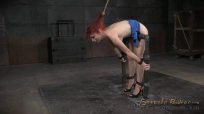 Redheaded sex siren Violet Monroe trained epic bondage deepthroat! (2015)
