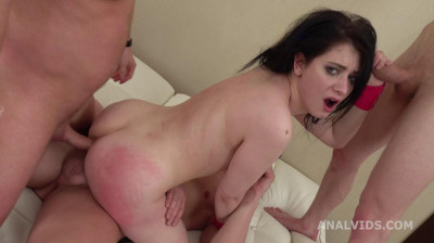 Russian Slut Gets Manhandle Orgy With DP & Creampies
