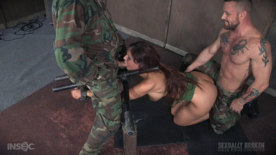 Hot Cougar is hooded and brutally fucked