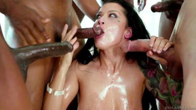Interracial Gangbang With Creampie For Beauty Katrina Jade