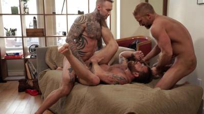 Riley Mitchel Services His Bosses Dylan James And Dirk Caber HD