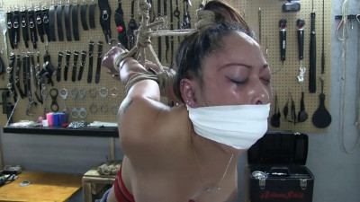 Super bondage, strappado and domination for beautiful model