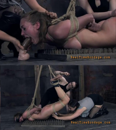 Hard bondage, spanking, strappado and torture for naked girl part 3