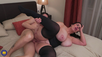huge tit mature housewife fucked by young lucky boy full hd