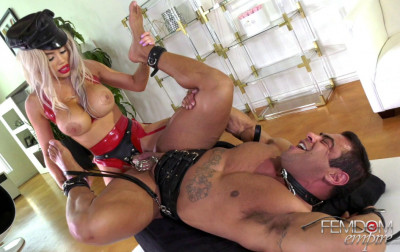 Muscle Guy Fucked By Busty Mistress Victoria June