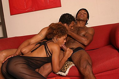 Black And BiSex - A Black Bisexual Threesome Gets Hot.