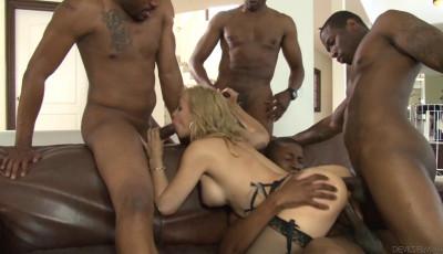 Amazing Sarah Vandella Gangbanged By Gigant Black Cocks