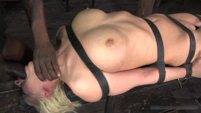 Cherry Torn belted down, planked and stuffed full of cock, brutal deep throat and massive