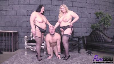 Bbw goddesses get pleasure from their slave