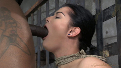 Newbie Katrina Jade With Natural DDD Breasts On Her 1st Bondage Shoot