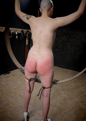 Soft skin and hard spanking