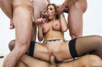 The Hot Gang Bang For The First Time Ever
