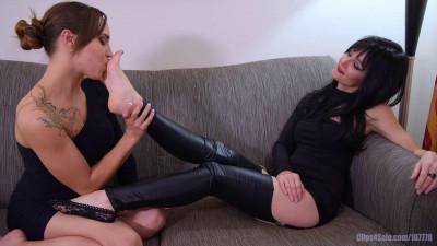 Sasha Worships Scarletts Feet