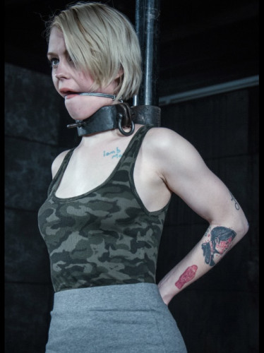 Petite Sexy Blonde Gets Metal BDSM Treatment