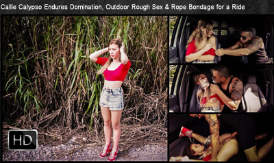 Hardtied - Mar 13, 2015 - Callie Calypso Endures Domination, Outdoor Rough Sex