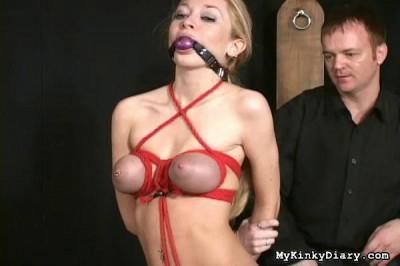 Submissive blonde