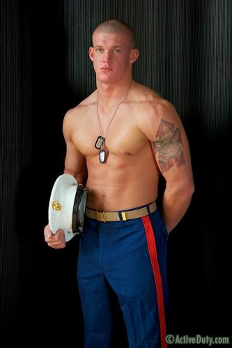 ActiveDuty - Tanner: shower, solo, uniform