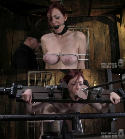 Hard bondage, spanking and torture for naked slavegirl part1