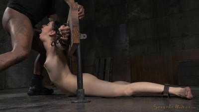 Sexy Aria Alexander bound in brutal back arch and throatboarded with punishing deepthroat on BBC!