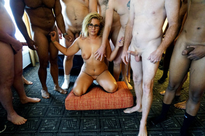 Lauren — 1st Gangbang and Bukkake Part 1