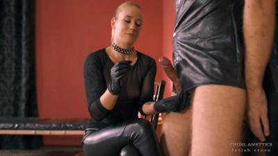 Mistress Anette Milking Slave