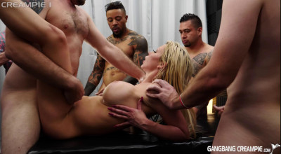 Big Tits Slut Barbie Sins Enjoys Creampie Orgy With Many Cocks