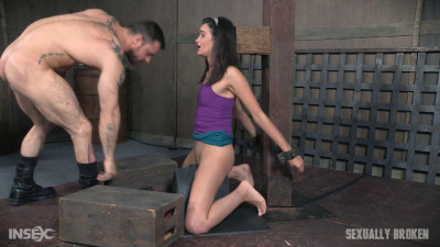 The Amazing Eden Sin Bound On A Sybian, Deepthroated And Throat Boarded Amazing Skills