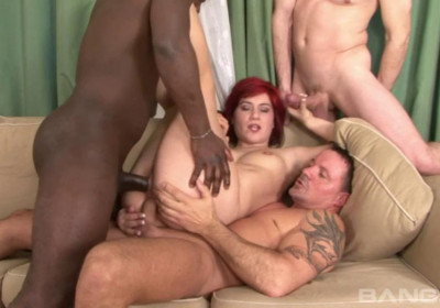Lucy Belle Likes DP Orgy With Huge Dicks
