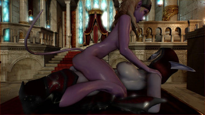 Futa Sylvanas Windrunner and Draenei – Full HD 1080p