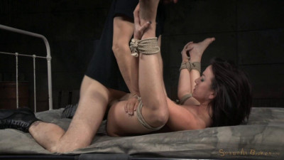 Tightly tied brunette Jennifer White roughly fucked bondage brutal deepthroat! (2015)