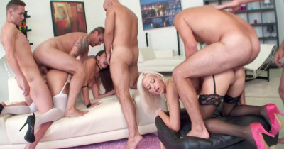 5on2 Double Addicted Gangbang Party