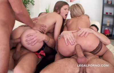 3 on 2 Double Addicted Gangbang With Kristal Kaytlin & Sara Kay