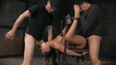Unbreakable Kalina Ryu Restrained And Roughly Fucked By Two Cocks With Messy Drooling Deepthroat