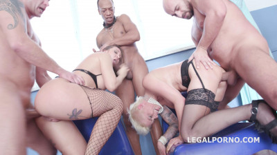Deep Anal Gangbang For Sexy Babes WIth Squirt