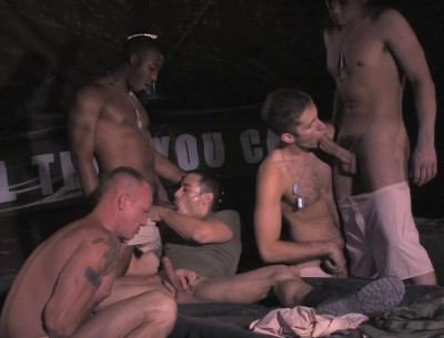 Description Muscle Recruits In Hard Fuck With Gangbang