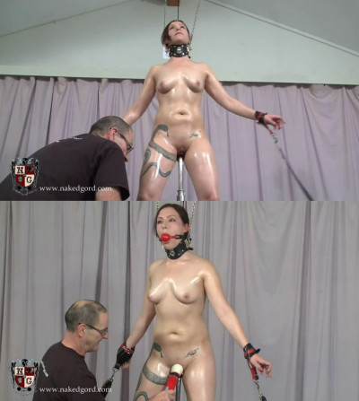 Description Super bondage, strappado and torture for beautiful naked slut