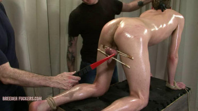 Bound naked on all fours for Aiden