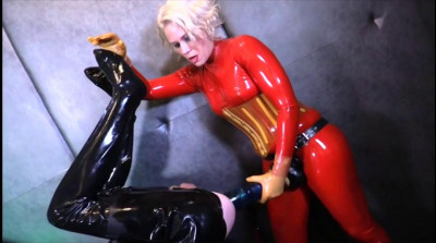 Helena's 14-Inch Rubber Strap-On Ass Fuck