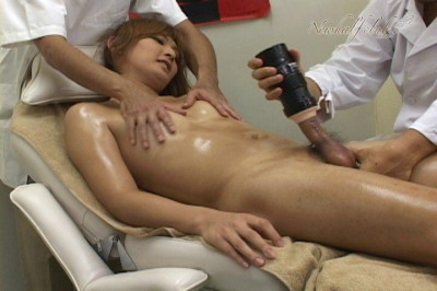 Beautiful Japanese Newhalf Mao Asagiri Getting A Full Body Massage.