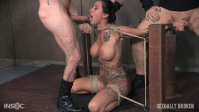 Lily lane is destroyed by a brutal face fucking, while being made to cum over and over! (boob, big tits, deep, rough sex)