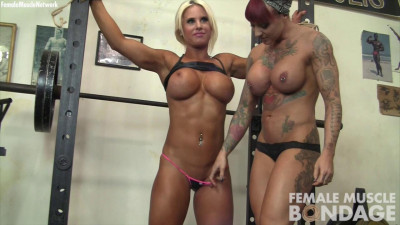 Description Dani Andrews and Megan Avalon - Tied Up at the Gym