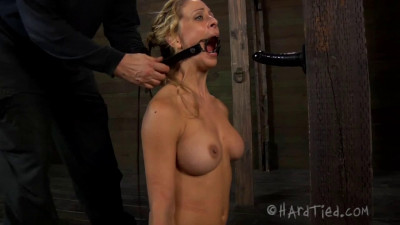 Tight bondage, hogtie and torture for hot sexy blonde part 2